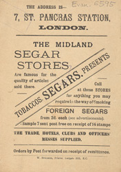 Advert for the Midland Segar Stores